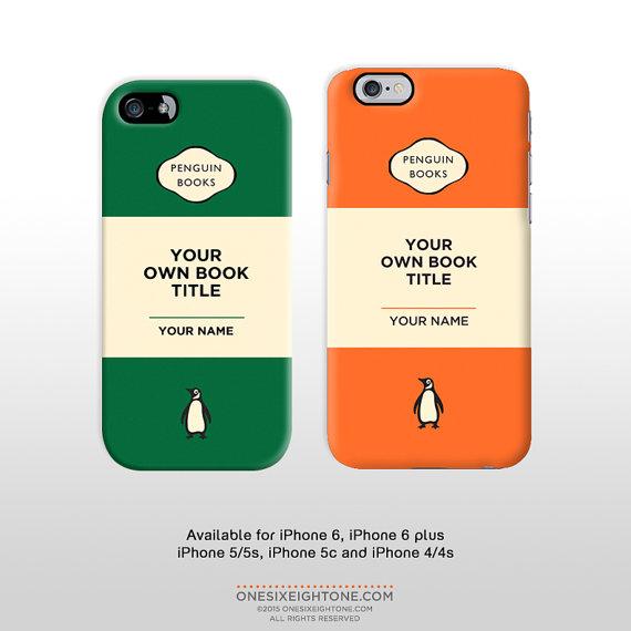 Fan van Penguin pocketbooks? Dan moet je absoluut een van deze iPhonehoesjes hebben! Te koop via Etsy.