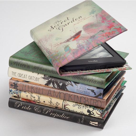 Heb je een Kindle? Wat is er dan mooier dan hem in zo'n prachtige boekenhoes stopenn?
