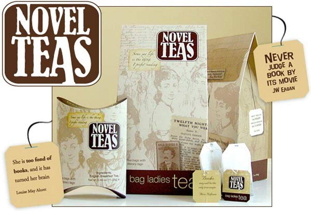 Boeken en thee, dat gaat goed samen.. helemaal leuk zijn deze theezakjes met quotes dan ook!