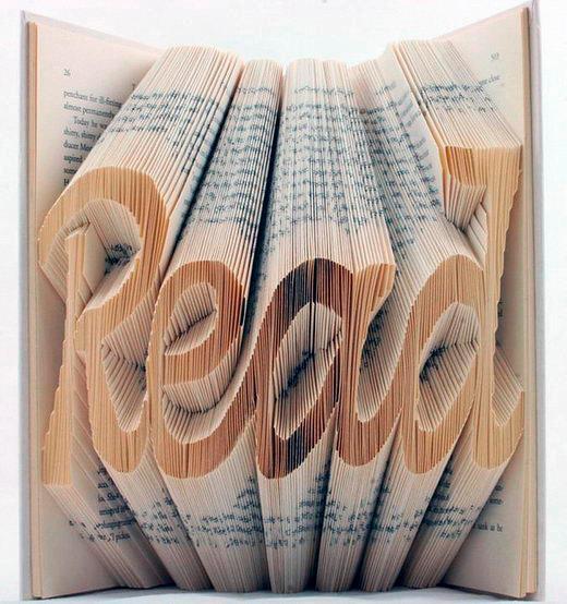 Een uniek cadeautje voor boekenfans: dit prachtig gevouwen boekenkunststukje.