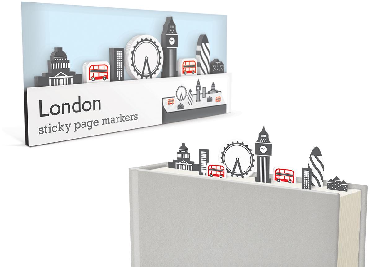 Wauw, deze sticky markers om plekken in een boek te markeren zijn ongelooflijk gaaf! Je hebt de keuze uit diverse thema's, zoals Londen, maar ook New York, Mars of de woestijn..
