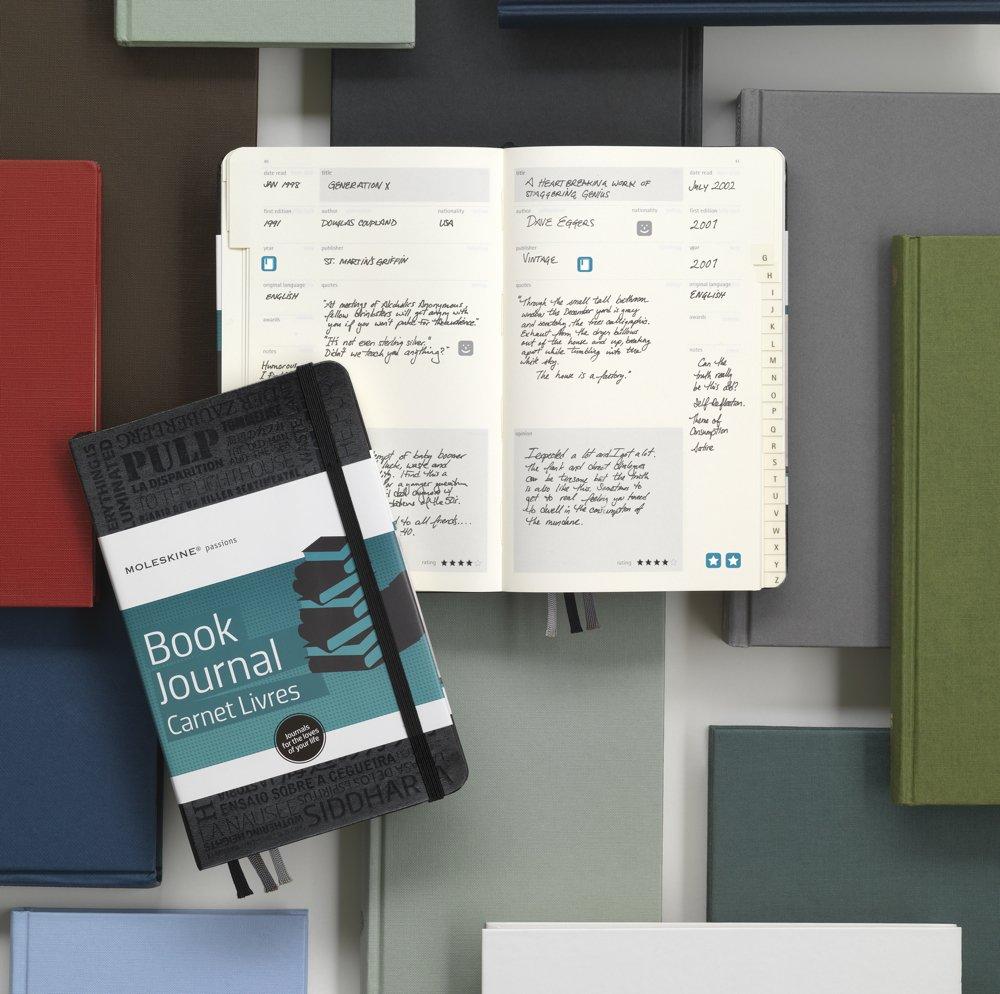 Prachtig leesdagboek van Moleskine. Wat las je, en wat vond je ervan? Hou het bij op de ouderwetse manier, gewoon op papier!