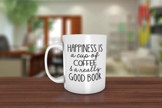 Duidelijk, koffie en een goed boek, dat is echte happiness!