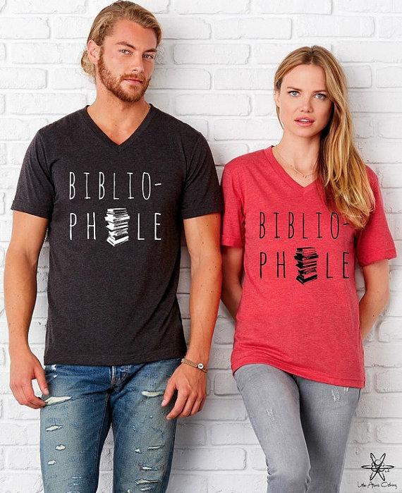 Ben je ook een bibliofiel? Laat iedereen het weten met dit t-shirt!