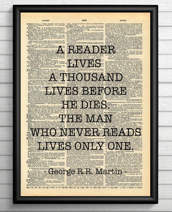 Deze mooie quote van George R.R. Martin verdient ook een plekje aan jouw muur!