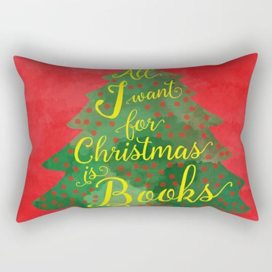 Een lekker kleurrijk kussentje met je verlanglijstje voor kerst!