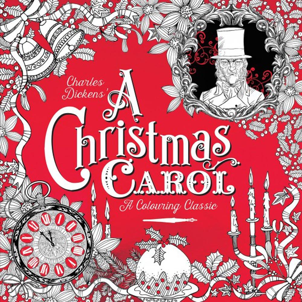 Lekker kleuren tijdens de kerstdagen met die A Christmas Carol kleurboek.